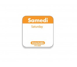 """Samedi/Saturday"" labels -..."