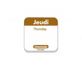 """Jeudi/Thursday"" labels -..."