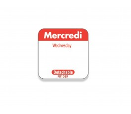 """Mercredi/Wednesday"" labels..."