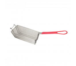 Deep fry basket, handle red...