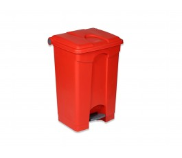 Step on bin 70 liters - red