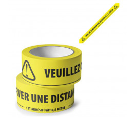 Adhesive tape with message...