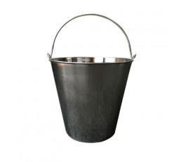 Bucket, stainless steel...