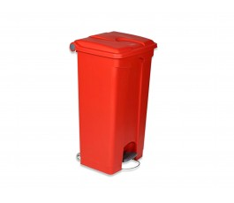 90L Red Step Bin