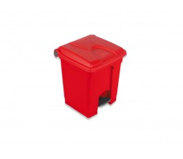 30L Red Step Bin